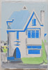 Huis in de Hallincqlaan, 2018. Oil on wood, size: 11x16cm [private collection] (Albert Zwaan, paintings http://www.albertzwaan.nl/) Tags: architecture dutch art contemporary dailypainting artmatters painting oilonwood house abstract contemporaryart
