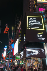 Times Square at Night (MikePScott) Tags: architecturalfeatures banner billboard buildings builtenvironment camera featureslandmarks flag logo newyork newyorkcity night nikon28300mmf3556 nikond800 sign skyscraper timessquare usa unitedstatesofamerica