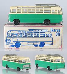 DDR-Ikarus311-green-B (adrianz toyz) Tags: ddr east germany 187 ho plastic toy model ikarus 311 coach espewe gdr scale bus