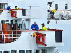 Scotland Greenock the Scottish islands cruiseship Hebridean Princess undergoing a ship inspection so she can start her 2018 cruising season next week 22 February 2018 by Anne MacKay (Anne MacKay images of interest & wonder) Tags: scotland greenock scottish cruiseship hebridean princess ship inspection xs1 22 february 2018 picture by anne mackay