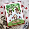 Swinging by to say...Happy Valentine's Day (The Queen's Scene) Tags: card cardmaking stamping papercrafts papercrafting lawnfawn lawncuts lawnfawnatics loveyabunches monkey valentine valentinesday