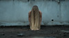 desolate (polo.d) Tags: desolate alone lonely deserted blond hair long woman body moody strange weird cold color tone pastel film look no face portrait creepy pose model wall concrete nurbex urnex fine art abandoned building place feet foot hidden blind