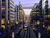Berlin Friedrichstr. (parkerbernd) Tags: berlin friedrichstr city blue hour dusk street lights tram rails perspective sunset germany
