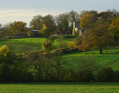 Battlesden landscape (Jayembee69) Tags: battlesden field countryside view church stpeterallsaints beds bedfordshire uk unitedkingdom britain british england english farmland village landscape country rural autumn idylic bucolic