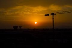 Sunset (politaminera) Tags: sunset santiago chile atardecer arrebol cielo rojo redsky city sun photography photos canon canont5i sol nubes cielos chilenos construción