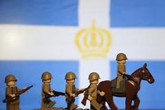 Lego WWII Greek infantry (Lego@rt) Tags: lego ww2 greek army