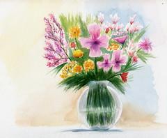 bouquet (ybipbip) Tags: aquarelle aquarell akvarell watercolor watercolour paint painting pintura