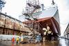 Drydock - Stern (uwnews) Tags: rvthomasgthompson drydockphotos harborisland renovation researchvessel ship vigorindustrial water