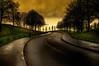 Low Light (Tony Shertila) Tags: england gbr geo:lat=5341958418 geo:lon=297017097 geotagged liverpool unitedkingdom europe britain merseyside everton road hill tree curve sky clouds outdoor street lamp