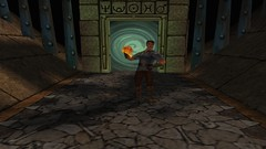 The Might of Light (Chainmail Shirt) (BarricadeCaptures) Tags: kingsquest kingsquestmaskofeternity maskofeternity dimensionofdeath connorofdaventry connor chainmail chainmailshirt leathergloves leatherboots portal gamescreenshots gamephotography videogame screencapture screenshot screencap