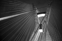 aço e concreto (renanluna) Tags: ponte bridge estaiada noite night céu sky monocromia monochromatic pretoebranco blackandwhite pb bw sãopaulo 011 sp br 55 fuji fujifilm renanluna