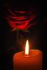 Romance (ΞLLΞ∩) Tags: romance romantik candle kerze red rose rote abend evening
