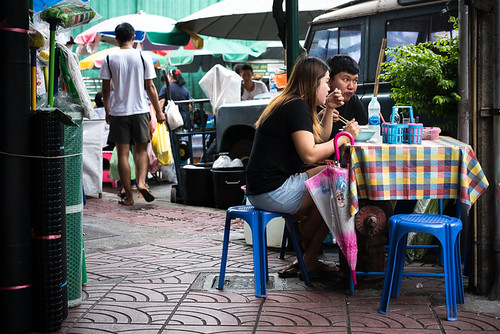 Couple In Snack Stand (Thailand)