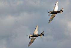 Spitfires (Bernie Condon) Tags: formation vickers supermarine spitfire warplane fighter raf royalairforce fightercommand ww2 battleofbritian military preserved vintage aircraft plane flying aviation
