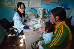 43136-012: Protecting Health Status of Poor during Financial Crisis in Mongolia (Asian Development Bank) Tags: mongolia mng ulaanbaatar 43136 43136012 health healthservices mongolian people doctor medicalpractitioner physician patient family relatives baby infant child kid consultation checkup medicine meds medication drugs prescription healthclinic healthcenter medicalcenter hospital bayangol