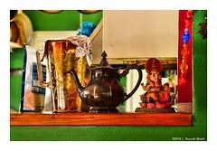 I'm a Little Tea Pot... (TooLoose-LeTrek) Tags: color statue teapot green ganesha ledge