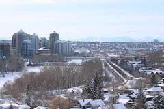 Winter in Calgary (davebloggs007) Tags: winter calgary bow river peace bridge