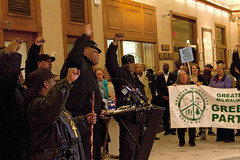 Milwaukee Black Panthers Get the Lead Out of Our Water Press Conference Milwaukee City Hall 2-14-18  9737 (www.cemillerphotography.com) Tags: tainted poisoned corroded deadly unhealthy learningdefects kids children harmful toxin toxic schools homes pipes drinkingwater filter disease substance chemical ingest breathein paint