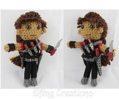 Blythe Doll (merigreenleaf) Tags: crochet crocheted doll plushie plush fantasyart fantasy amigurumi handmade fighter warrior