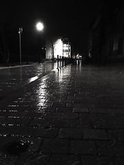 Street light on a rainy night (LUMEN SCRIPT) Tags: mirror reflection light rain suburb urbanphotography monochrome mood atmosphere spooky nightphotography sundaylights