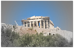 The Acropolis under Renovation (big_jeff_leo) Tags: city capital cityscape europe mediterranean building stone old classic