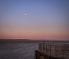 The Moon And The Telescope (Rob Pitt) Tags: sunset moonrise easthamferry wirral beast from east moon telescope mersey river 750d 1855mm canon sky