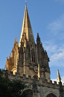 Clocher gothique de l'église Sainte Marie, Oxford, Oxfordshire, Angleterre, Royaume-Uni.