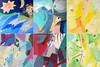 6 canvases Peter Ciuha (peter.ciuha) Tags: paintings peter ciuha canvas paper acrylic slike collage kolaž 2012