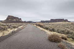 Road walk (johnwporter) Tags: hiking scramble mountains easternwashington washington desert centralwashington sunlakesdryfallsstatepark statepark coulee umatillarock 徒步 爬行 山 華盛頓東部 華盛頓州 荒漠 華盛頓中部 太陽湖乾瀑布州立公園 州立公園 豐碑深谷 深谷 尤馬蒂拉岩 monumentcoulee