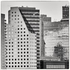 EY (fhenkemeyer) Tags: square bw netherlands rotterdam reflection architecture nested hww