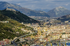 View of Salerno from above (firstfire53) Tags: europe italy ruins roman greek salerno