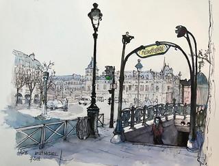 PARIS, Boulevard Saint Michel