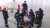 Lymm Fire Service Rope Practice at Daresbury Laboratory (joanjbberry) Tags: fire service lymmfirebrigade cheshirefireservice daresbury daresburylaboratory training ropetraining abseiling fireman firemen tower cheshire workingatheight longwaydown