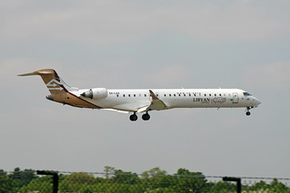 5A-LAA CL-600-2D24 Libyan Airlines
