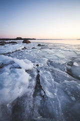 Kolkkaluoto (tommi.vuorinen) Tags: ruissalo turku finland winter frosty ice icy water rock shore island archipelago sky sunset sunrise serene cold leading line landscape nature outdoor rural