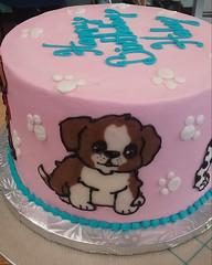 puppy (4) (backhomebakerytx) Tags: kid birthday cake puppy cute dogs animals girl pink backhomebakery
