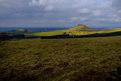 Shine a Light. (Stuart Hetherington Photography) Tags: landscapes northyorkshire roseberrytopping hill mountain moors fields countryside clouds sky