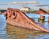 Sunken Tug and Ferry off of Staten Isand (joiseyshowaa) Tags: new york city nyc borough boro water harbor abandoned oil tank kayaking