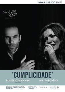 concerto - Duetos da Sé - Alfama Lisboa - SÁBADO 10 DE MARÇO 2018 - 21h30 - CUMPLICIDADE - Rogério Godinho - Mili Vizcaíno
