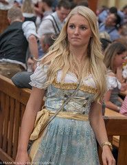 She seems dazed by the madness! (Alaskan Dude) Tags: travel germany europe bavaria munich munchen oktoberfest beer art people portraits costumes fun
