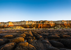 Hunstanton's cliffs [Explored 10/01/18] (aljones27) Tags: norfolk hunstanton eastangliancoast beach shore sea coast coastal cliff cliffs sunset evening
