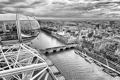 London Eye (svpe4711) Tags: westminster thames england cloudy bigben sony vacation river clouds westminstercasle fluss city londoneye urban westminsterbridge london travel themse riesenrad architecture sky building a6000 ferriswheel uk 2016