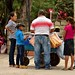 An ice cream vendor on the central plaza of Copan Ruinas. [Copan Ruinas / Honduras]