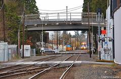 Fenced in bike bridge - HFF! (JSB PHOTOGRAPHS) Tags: dsc243800001 fence fencefriday eugeneoregon nikon d1h 18300mm hff train traintracks van tress bikebridge