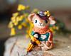 Mr. Traveler (horoshka) Tags: travel mouse scarf handmade polymerclay brooch pin