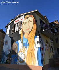 Sant'Angelo frazione del Comune di Viterbo realizza il primo murales e diventerà IL PAESE DELLE FIABE. (oscar.martini_51) Tags: san angelo frazione di viterbo il paese delle fiabe
