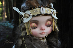 Introducing Ansuz! (Melacacia ☽) Tags: melacacia custom blythe doll mohair ansuz redwoods runes viking ancient shaman girl