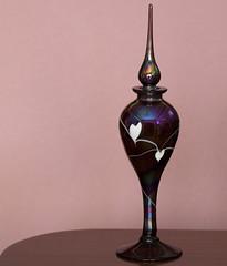 gift with heart (verona39) Tags: bottle glass art perfume smileonsaturday heartshaped