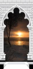 Papier-peint pour porte Photo wallpaper Gothic arch and sunset I (emmanuel_delahaye) Tags: papier mobilier deco artgeist recollection decointerior interiordesign design home décoration papierspein
