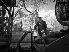 Great Central Railway Leicester Leicestershire 15th February 2018 (loose_grip_99) Tags: great central railway railroad rail train leicestershire eastmidlands england uk steam engine locomotive preservation transportation lms ivatt 2mt 260 46521 footplate leicester blackwhite noiretblanc gassteam uksteam trains railways february 2018 gcr